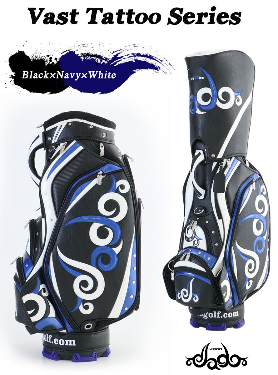 ゴルフキャディーバッグ Vast Tattoo series ブラック×ネイビー×ホワイト 2017年10月発売アイテム