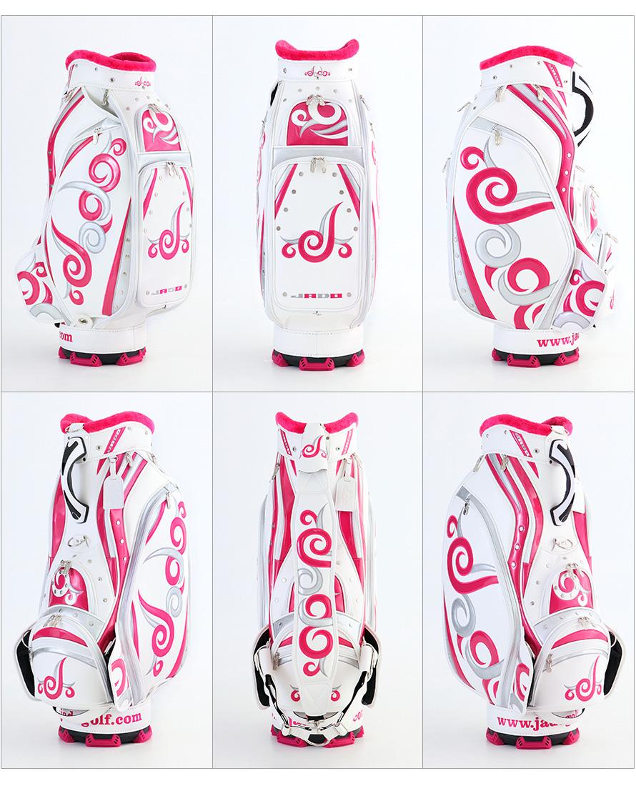 ゴルフキャディーバッグ Vast Tattoo series ホワイト×ピンク×シルバー 2017年10月発売アイテム