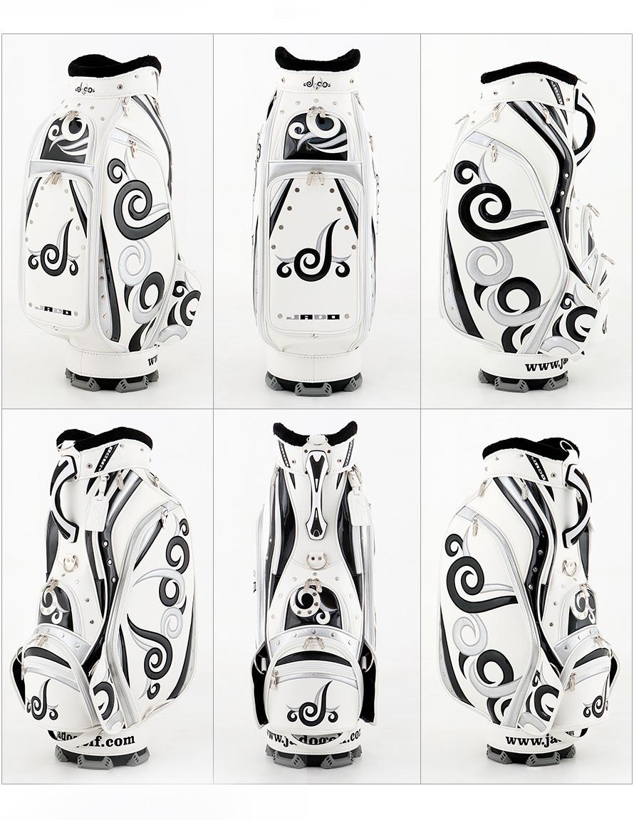ゴルフキャディーバッグ JADO Vast Tattoo series Additional color ホワイト×ブラック×シルバー 2018年5月発売アイテム