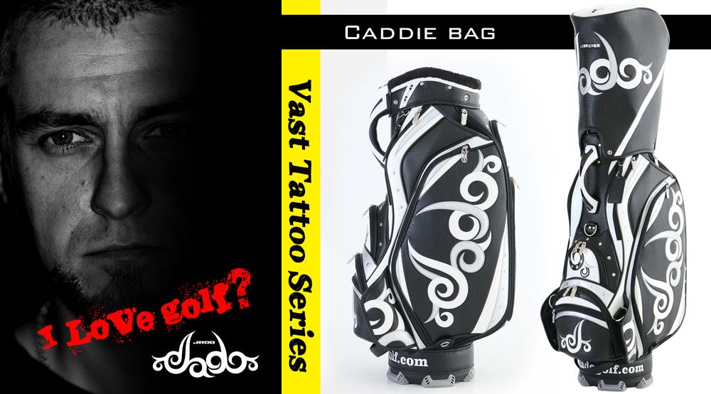 ゴルフキャディバッグ Vast Tattoo series ブラック×シルバー×ホワイト 2017年10月発売アイテム