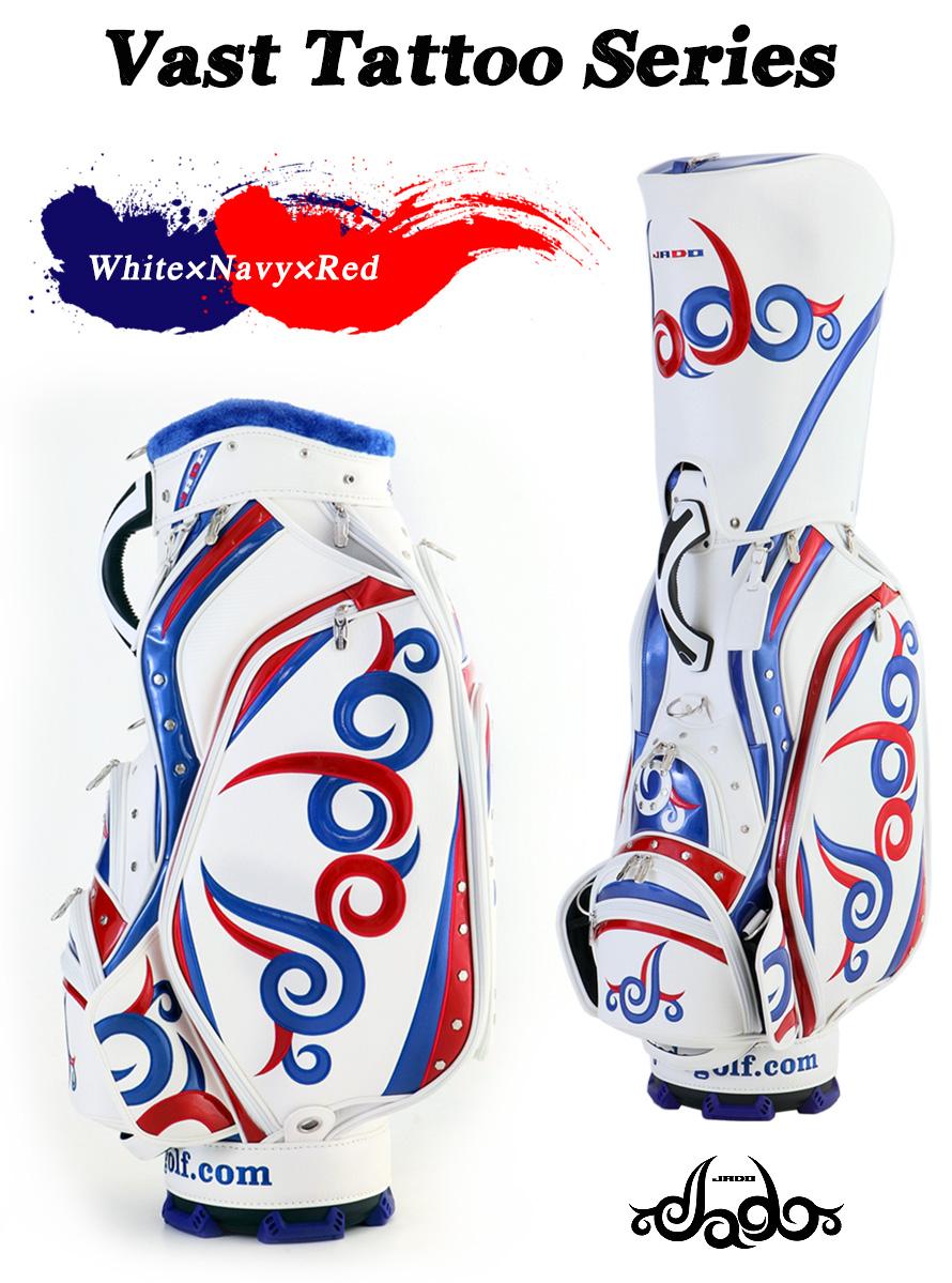 ゴルフキャディーバッグ Vast Tattoo series ホワイト×ネイビー×レッド 2017年10月発売アイテム