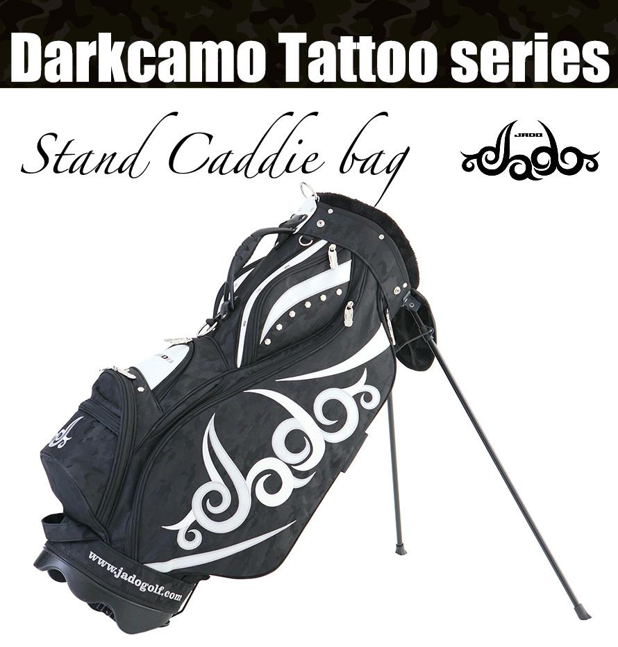 Darkcamo Tattooシリーズ スタンドキャディバッグ カモブラック×シルバー×ホワイト 2018年1月発売アイテム