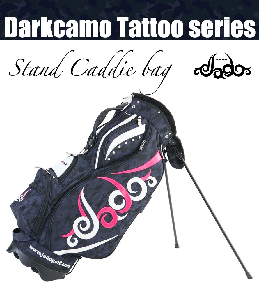 Darkcamo Tattooシリーズ スタンドキャディバッグ カモネイビー×ピンク×ホワイト 2018年1月発売アイテム