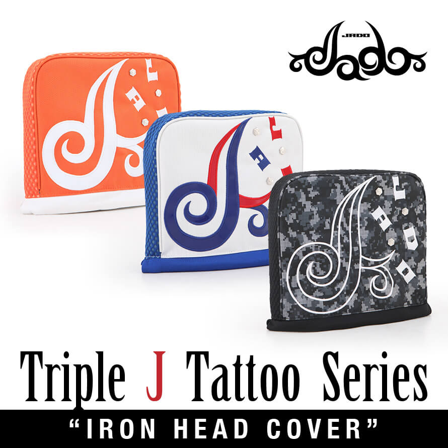 Triple J Tattooシリーズ ヘッドカバー アイアン用 選べる3カラー 2019年4月末発売